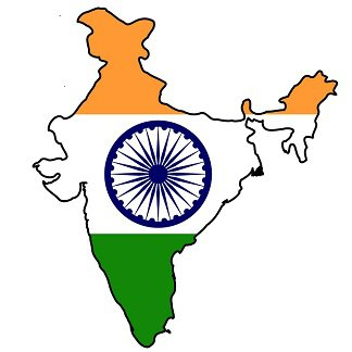 Indian Flag Over Map of India